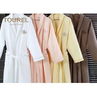 China White Flannel Cotton Hotel Quality Bathrobes Colorful Luxury Spa Robes wholesale