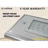 China 3000LM 30W All In One Solar Street Light With PIR Sensor In 5 Years Warranty wholesale