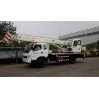 China 8 /12 /16 Tons Hydraulic Small Truck Crane , 10 Ton Crane Truck With Telecopic Boom wholesale