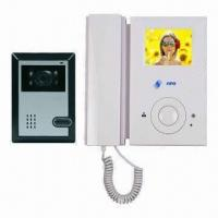 China 4 Wired Video Intercom System with CMOS, CCD Camera and 3.5-inch TFT LCD, Wall Surface Mounted on sale
