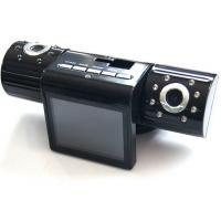 China IR Night Vision 5 Mega Pixel Dual Camera Car DVR , Dual Lens Rotative , Cycling Records wholesale