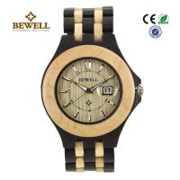 China Luxury Hand Crafted Wooden Wrist Watch For Groomsmen , Ebony Maple wholesale
