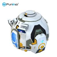 Buy cheap Large 1.0kw Game VR Simulator Mini Dome 9D Cinema 150kg Bearing Load For 1 from wholesalers