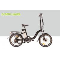 China Black 10.4Ah Electric Folding Cruiser Bicycle 36V 20 Inch With Disc Brake on sale