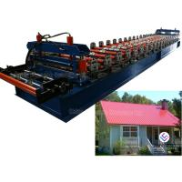 Buy cheap 4 KW Hydraulic Cutter Glazed Roll Forming Machine / Tile Forming Machine from wholesalers