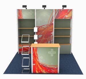 China Modular Designed Custom Tradeshow Booth Portable Frameless Style Easy Build wholesale