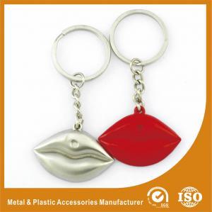 China Silver Plated Custom Shaped Keychain Personalised Lips Keychain wholesale