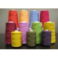 China bleached white 18s/2 poly cotton sewing thread in cone/spool/tube wholesale