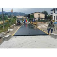 China 100 Ton Truck Weighbridge / Road Weighbridge Steel Plate Material With Ramps on sale