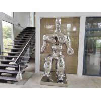 Buy cheap Mirror Polished Modern Stainless Steel large indoor sculptures from wholesalers