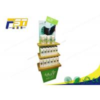 China CMYK Printing Surface Corrugated Cardboard Display Stand with Custom Color Print wholesale