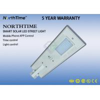 China LiFePo4 Battery LED  Solar Lamp With WIFI Camera / Solar Street Light All In One 50W ROHS IES wholesale