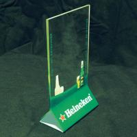 China Vertical 2mm Acrylic Menu Holder With Silk-screen Print Logo wholesale