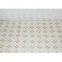 Buy cheap DTM French Guipure Corded Lace Fabric , 100 Polyester Chemical Lace from wholesalers