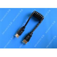 China Black 8 Pin High Speed HDMI Cable , Gold Plated Multimedia HDMI To HDMI Cable wholesale