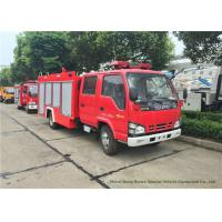 Quality ISUZU NKR 600P Water Tank Fire Fighting Truck With Fire Pump 3000Liters for sale