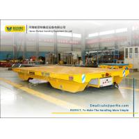 Buy cheap rail transfer flat cart remote control operation transportation bogie from wholesalers
