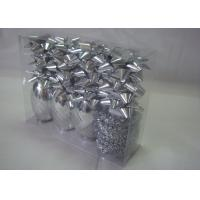 China ROHS Christmas gift wrapping ribbons and bows with single - side printed wholesale