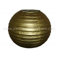 China Gold / Silver Color Round Ball Paper Lanterns , Luxury Modern Paper Lanterns wholesale