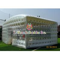 China Closed Airtight Tent / Inflatable Cube Tent Flexible To Move Environmental Protection wholesale