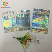 China Front Clear Mylar Ziplock Heat Seal Bags Flat Plastic Hologram Packaging Pouches wholesale