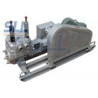 China Low Noise Mortar Grout Pump , Electric Grout Pump With Skid Chassis SG130-20 wholesale