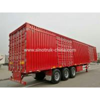 China Lightweight Box Cargo Semi Trailer With Detachable Side Walls And Bulkhead wholesale