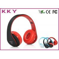 China Red Headband Bluetooth Headphones / Noise Cancelling Bluetooth Headset With TF Card wholesale