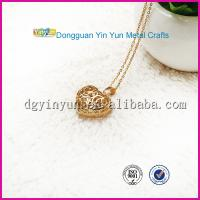 China Hottest Products on the Market Gold Heart Necklace wholesale