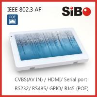 Room Controlling 7 Inch Android OS Angled Mounting Touch Screen With POE and RGB LED Light