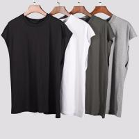 China Casual Mens Sleeveless T Shirts , Round Neck Sports T Shirts Customized Colors on sale