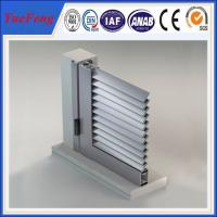 China oval solid aluminium louvre profile, sliver 6063 t5 aluminum extrusion blade louver panels on sale
