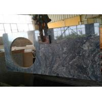 China 22 x 60 inches Ganges Black Prefab Granite Vanity Tops with left sink hole wholesale