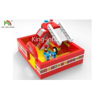 China Fire Fighting Truck Theme Inflatable Jumping Bouncer Castle For Commercial Amusement wholesale