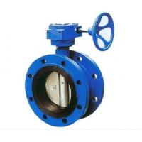 Double Flanged Cast Steel Butterfly Valve Adjust Tightness With Hand Wheel Dn50 - Dn400