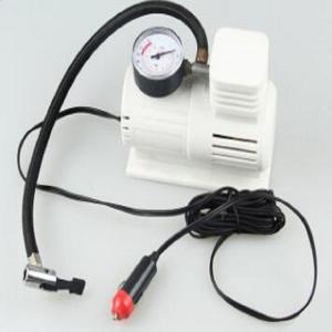 China White Mini Air Pump With 45cm Hose , Hand Held Heavy Duty Car Air Compressor wholesale