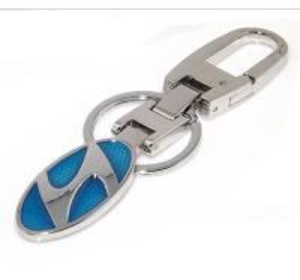 China Metal Hyundai sedan logo key chain, alloy Hyundai auto logo brand key holder,ready mold, wholesale