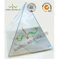 China Handmade Custom Gift / Craft Clear Packaging Boxes Triangle Glossy Lamination wholesale