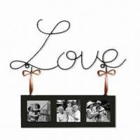 China Wall Art with Letter Decor and Photos, Measures 450 x 10 x 190mm, Various Colors are Available wholesale