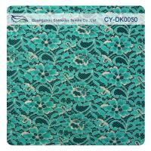 China Green Metallic Guipure Lace Fabric , Nylon Cotton Fabric Flower Lace wholesale