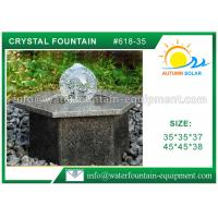 China Hexagon Base Natural Stone Fountains Outdoor For Lanscape Hand Carved wholesale