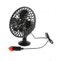 China DC 12V Oscillating With On/Offf Switch Car Cooling Fan OEM Service wholesale
