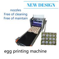 China Easy Control Egg Inkjet Marking Machine / Ink Stamping Machine With Conveyor wholesale