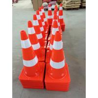 China Road Safety Guiding Cone Orange PVC Plastic Traffic Cones wholesale