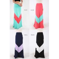 China Maxi Style Pastel Colored Chevron Girls Skirts Polyester And Spandex Dresses wholesale
