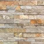 China Natural stone , Granite Stacked Stone Red Granite Stone Wall Ledge Cladding wholesale