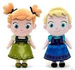China Small Girls Disney Plush Toys Elsa And Anna Frozen Baby Dolls 30cm wholesale
