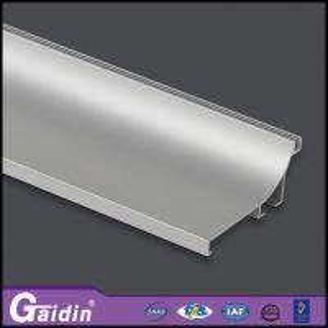 China aluminum extrude modern CNC curved woodgrain anodized/powder coating kitchen cabinet shower door handle profiles wholesale