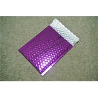 China Antistatic Metallic Pink Bubble Mailers , Bubble Wrap Bags 135x210 #-AC wholesale
