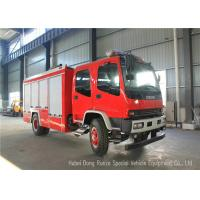 China ISUZU FVR EURO5 Water Foam Fire Fighting Vehicles For Fireman Department wholesale